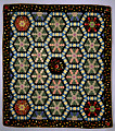 View 1840 - 1860 Hexagon Silk Quilt digital asset number 0