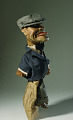 View male hand puppet by Bil Baird apprentice of Tony Sarg, for puppeteer Miquel V. Varell digital asset number 3