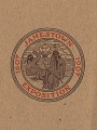 View [Jamestown 1907 Exposition Booklet Logo featuring two Native Americans : booklet] digital asset: [Jamestown 1907 Exposition Booklet Logo featuring two Native Americans : booklet], 1907.