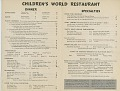 View Children's World Restaurant [menu] digital asset: Children's World Restaurant [menu].