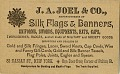 View J.A. Joel & Company, Manufacturers of Silk Flags & Banners [advertising card] digital asset: J.A. Joel & Company, Manufacturers of Silk Flags & Banners [advertising card, undated, but 1863 or later].