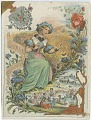 View Spain Carnation and German Wildflower [trade card] digital asset: Spain Carnation and German Wildflower [trade card].