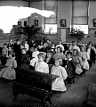 View [Children seated in classroom.] Stereo photonegative digital asset: [Children seated in classroom.] Stereo photonegative, 1909.