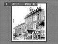 View [City street scene with business storefronts.] Active no. 458 : NON-stereo photonegative digital asset: [City street scene with business storefronts.] Active no. 458 : NON-stereo photonegative.