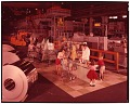 View [Jones & Laughlin ad campaign; staged image of a grocery check-out with factory in background, Aliquippa : chromogenic color transparency] digital asset: [Jones & Laughlin ad campaign; staged image of a grocery check-out with factory in background, Aliquippa : chromogenic color transparency], 1960.