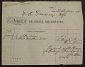 View E. D. Moore:  Receipts, September 1907-February 1911 digital asset number 1