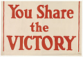View You Share the Victory / Share the Cost! digital asset: You Share the Victory / Share the Cost!