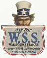 View Begin War Savings Today ... This is Your Country - Prove It! / War Savings Stamps ... Sure, Safe Investment Save for Victory / Ask for W.S.S. ... digital asset: Begin War Savings Today ... This is Your Country - Prove It! / War Savings Stamps ... Sure, Safe Investment Save for Victory / Ask for W.S.S. ...