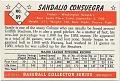 View Sandalio Consuegra [baseball card] digital asset: 00 Sandalio Consuegra [baseball card].