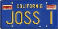View John Clifford Shaw Papers digital asset: California License plate titled JOSS I