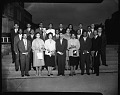 View Sigma Xi Honor Society inductees, May 1960 [cellulose acetate photonegative] digital asset: Sigma Xi Honor Society inductees, May 1960 [cellulose acetate photonegative].