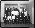 View Alpha Omega Alpha Banquet and Inductees, H.U. Med School, April 1963 [cellulose acetate photonegative] digital asset: Alpha Omega Alpha Banquet and Inductees, H.U. Med School, April 1963 [cellulose acetate photonegative].