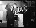 View Dr J. B. Johnson with Nat[iona]l Heart Asso[ciatio]n President, Feb[ruary] 1964 [cellulose acetate photonegative] digital asset: Dr J. B. Johnson with Nat[iona]l Heart Asso[ciatio]n President, Feb[ruary] 1964 [cellulose acetate photonegative].
