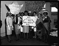 View A.K.A. [Alpha Kappa Alpha] Sorority delegates to Civil Rights Bill, May 1964 [cellulose acetate photonegative] digital asset: A.K.A. [Alpha Kappa Alpha] Sorority delegates to Civil Rights Bill, May 1964 [cellulose acetate photonegative].