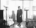 View [Mary McLeod Bethune standing in room, near chairs : acetate photonegative] digital asset: [Mary McLeod Bethune standing in room, near chairs : acetate photonegative, ca. 1930?]