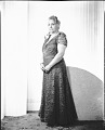 View Charlotte Wallace Murray [standing, full length : acetate film photonegative] digital asset: Charlotte Wallace Murray [standing, full length : acetate film photonegative]: undated