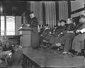 View Howard University Founder's Day, with Secretary of the Interior, Harold Ickes, speaking [acetate film photonegative] digital asset: Howard University Founder's Day, with Secretary of the Interior, Harold Ickes, speaking [acetate film photonegative], 1930s.