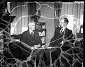 View Dr.'s [sic] Mordecai Johnson [Dr. John Hope] [acetate film photonegative] digital asset: Dr.'s [sic] Mordecai Johnson [Dr. John Hope] [acetate film photonegative, ca. 1933-1935.]