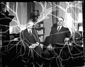 View Dr's [sic?] Mordecai Johnson and John Hope : [acetate film photonegative] digital asset: Dr's [sic?] Mordecai Johnson and John Hope : [acetate film photonegative, ca. 1933-1935].