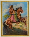 View Tomas Ybarra-Frausto Calendar Collection : Posters digital asset: Man wearing sombrero, holding a young woman with him on a horse.