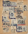 View Thomas Garvin Korean War Scrapbook digital asset: 14 page scrapbook of illustrated envelopes