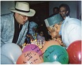 View Paquito D'Rivera Papers digital asset: Photograph of  birthday celebration with Dizzy Gillespie