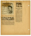 View [Newspaper clippings (5 total) from various newspapers]. [scrapbook page.] digital asset: [Newspaper clippings (5 total) from various newspapers]. [scrapbook page.]
