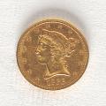 View 5 Dollars, United States, 1866 digital asset number 0
