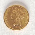 View 5 Dollars, United States, 1884 digital asset number 0