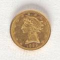 View 5 Dollars, United States, 1892 digital asset number 0