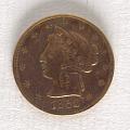 View 5 Dollars, United States, 1852 digital asset number 0