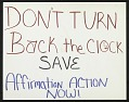View Don't Turn Back the Clock - Save Affirmative Action Now digital asset number 1