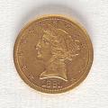 View 5 Dollars, United States, 1881 digital asset number 0