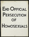 View End Official Persecution of Homosexuals digital asset number 0