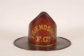 View Friendship Fire Company Fire Hat digital asset: Friendship Fire Company Parade Hat, front view