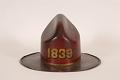 View Friendship Fire Company Fire Hat digital asset: Friendship Fire Company Parade Hat, back view