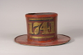 View Hand-in Hand Fire Company Fire Hat digital asset: Hand-in-Hand Fire Company Parade Hat, back