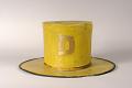 View Diligent Fire Company / Veteran Fireman's Fire Hat digital asset: Diligent Parade Hat worn by veteran fireman, back