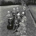 View Photographic History Collection: Henry Horenstein digital asset: The Johnson Mountain Boys were a traditional bluegrass band formed in the Washington, D.C. suburbs in the 1970s--consisting of Dudley Connell,  David McLauglin, Eddie Stubbs, and Larry Robbins.