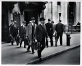 View Photographic History Collection: Carl Mydans digital asset: Chain Gang of New York Stock Exchange officers