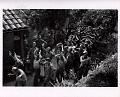 View Photographic History Collection: Carl Mydans digital asset: Surrendering German soldiers march through a village during liberation of southern France