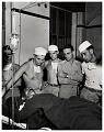 View Photographic History Collection: Carl Mydans digital asset: General and former Prime Minister Hideki Tojo receiving blood transfussion