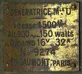 View Gaumont aircraft generator digital asset number 5