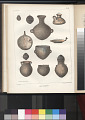 "View Lithograph of ""Indian Antiquities"" pottery artifacts digital asset: American Indian pottery / Plate IX"