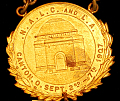 View 2nd Biennial and 16th Convention N.A.L.C., 1st Biennial, L.A. digital asset: Badge, 2nd Biennial and 16th Convention N.A.L.C., 1st Biennial, L.A., Detail of Medal