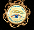 View Independent Order of Odd Fellows badge digital asset: Badge, Independent Order of Odd Fellows, Button Detail