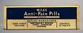 View Miles Anti-Pain Pills digital asset: Miles Anti-Pain Pills
