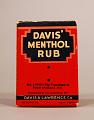 View Davis' Menthol Rub digital asset: Davis' Menthol Rub box