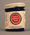 View Davis' Menthol Rub digital asset: Davis' Menthol Rub jar