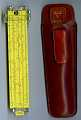 View Pickett N600-ES Log Log Duplex Slide Rule digital asset: Slide rule - Pickett Model N600-ES - Front & Case View